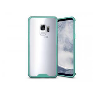 เคส Samsung Galaxy S9 เคส Hybrid ฝาหลังอะคริลิคใส ขอบยางกันกระแทก สีเขียวมิ้นท์