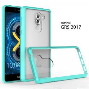 เคส Huawei GR5 2017 เคส Hybrid ฝาหลังอะคริลิคใส ขอบยางกันกระแทก สีเขียวอมฟ้า