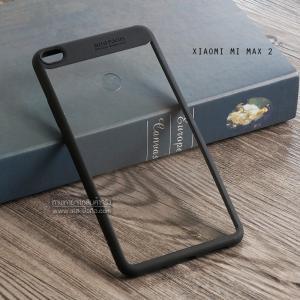 เคส Xiaomi Mi Max 2 เคส Hybrid ฝาหลังอะคริลิคใส ขอบยางกันกระแทก แบบที่ 2 (ขอบนูนรอบกล้อง) สีดำ