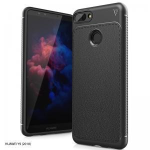 เคส Huawei Y9 (2018) เคสนิ่ม Hybrid เกรดพรีเมี่ยม ลายหนัง (ขอบนูนกันกล้อง) แบบที่ 1