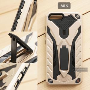 เคส Xiaomi Mi 6 เคสบั๊มเปอร์ กันกระแทก Defender 2 ชั้น (พร้อมขาตั้ง) สีทอง (แบบที่ 2)