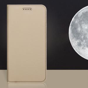 เคส Nokia 7 Plus เคสฝาพับแม่เหล็กเกรดพรีเมี่ยม (เย็บขอบ) พับเป็นขาตั้งได้ สีทอง (Dux Ducis)