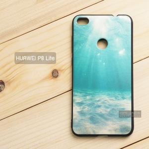 เคส Huawei P8 Lite เคสนิ่ม TPU พิมพ์ลาย (ขอบดำ) แบบที่ 1