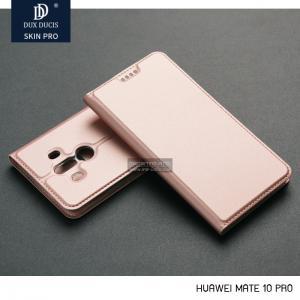 เคส Huawei Mate 10 Pro เคสฝาพับแม่เหล็กเกรดพรีเมี่ยม (เย็บขอบ) พับเป็นขาตั้งได้ สีโรสโกลด์ (Dux Ducis)