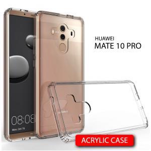 เคส Huawei Mate 10 Pro เคส Hybrid ฝาหลังอะคริลิคใส ขอบยางกันกระแทก สีใส