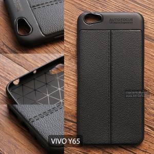 เคส VIVO Y65 เคสนิ่ม Hybrid เกรดพรีเมี่ยม ลายหนัง (ขอบนูนกันกล้อง) แบบที่ 2 (มีเส้นตรงกลาง)