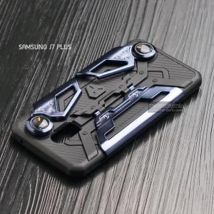 เคส Samsung J7 Plus เคสนิ่ม Hybrid (GAMER CASE) พร้อมขาตั้ง + ที่จับสำหรับเล่นเกม (สีน้ำเงิน)