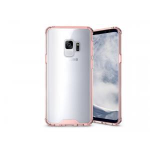 เคส Samsung Galaxy S9 เคส Hybrid ฝาหลังอะคริลิคใส ขอบยางกันกระแทก สี Old rose
