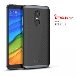 เคส Xiaomi Redmi 5 เคส Hybrid iPaky เคสนิ่มกันกระแทกเสริมขอบ PC สีดำเทา