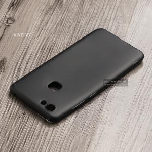 เคส Vivo V7 เคสนิ่ม TPU สีเรียบ สีดำ