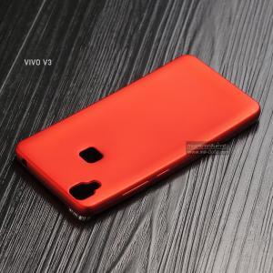 เคส Vivo V3 เคสนิ่ม TPU สีเรียบ สีแดง