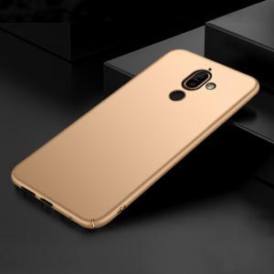 เคส Nokia 7 Plus เคสแข็งสีเรียบ คลุมขอบ 4 ด้าน สีทอง