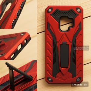 เคส Samsung Galaxy S9 เคสบั๊มเปอร์ กันกระแทก Defender 2 ชั้น (พร้อมขาตั้ง) สีแดง (แบบที่ 2)