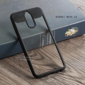 เคส Huawei Nova 2i เคส Hybrid ฝาหลังอะคริลิคใส ขอบยางกันกระแทก แบบที่ 2 (ขอบนูนรอบกล้อง) สีดำ
