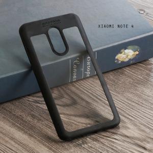 เคส Xiaomi Redmi Note 4 เคส Hybrid ฝาหลังอะคริลิคใส ขอบยางกันกระแทก แบบที่ 2 (ขอบนูนรอบกล้อง) สีดำ