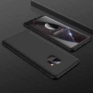 เคส Samsung Galaxy S9 เคสแข็งแบบ 3 ส่วน ครอบคลุม 360 องศา (สีดำ - ดำ)