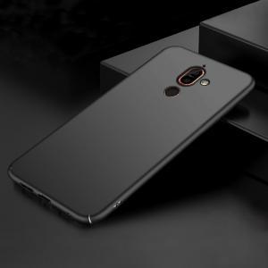 เคส Nokia 7 Plus เคสแข็งสีเรียบ คลุมขอบ 4 ด้าน สีดำ