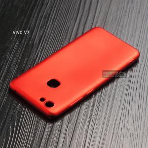 เคส Vivo V7 เคสนิ่ม TPU สีเรียบ สีแดง