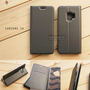 เคส Samsung Galaxy S9 เคสฝาพับเกรดพรีเมี่ยม เย็บขอบ พับเป็นขาตั้งได้ สีเทา (DUX DUCIS)