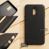 เคส Samsung Galaxy J7 Plus เคสนิ่ม TPU ลายเคฟล่า (ลดรอยนิ้วมือบนเคส) สีดำ