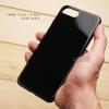 เคส iPhone 7 Plus / 8 Plus เคสแข็งผิวเงา Glossy ขอบยางนิ่ม สีดำ