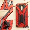 เคส Moto G4 Plus เคสบั๊มเปอร์ กันกระแทก Defender 2 ชั้น (พร้อมขาตั้ง) สีแดง (แบบที่ 2)