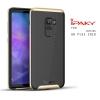 เคส Samsung Galaxy A8+ (PLUS) 2018 เคส Hybrid iPaky เคสนิ่มกันกระแทกเสริมขอบ PC สีดำทอง