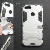 เคส Xiaomi Mi A1 เคสขอบกันกระแทก Defender (พร้อมขาตั้ง) สีเงิน