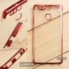 เคส Huawei P9 เคสนิ่ม SLIM TPU สีใส ขอบเงา ( สีแดง )