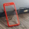 เคส Huawei P10 เคส Hybrid ฝาหลังอะคริลิคใส ขอบยางกันกระแทก แบบที่ 2 (ขอบนูนรอบกล้อง) สีส้มเข้ม