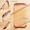 เคส Xiaomi Mi 6 เคสนิ่ม SLIM TPU สีใส ขอบเงา ( สีแดง )