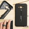 เคส Samsung Galaxy J7 เคส Hybrid เกรดพรีเมี่ยม 2 ชั้น ขอบยางลดแรงกระแทก พร้อม (ขาตั้ง + สายคล้องนิ้ว) สีดำ