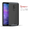 เคส Samsung Galaxy A8+ (PLUS) 2018 เคส Hybrid iPaky เคสนิ่มกันกระแทกเสริมขอบ PC สีดำเทา