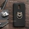 เคส Samsung Galaxy J7 Plus เคสนิ่ม TPU สีเรียบ พร้อมแหวนมือถือรูปหมี (BEAR) สีดำ