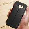 เคส Samsung Galaxy S7 Edge เคสนิ่ม Hybrid เกรดพรีเมี่ยม ลายหนัง (ขอบนูนกันกล้อง) แบบที่ 2 (มีเส้นตรงกลาง)