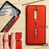 เคส Nokia 5 เคส Hybrid เกรดพรีเมี่ยม 2 ชั้น ขอบยางลดแรงกระแทก พร้อม (ขาตั้ง + สายคล้องนิ้ว) สีแดง
