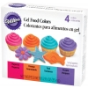 Wilton Gel food magenta,orange,teal,purple 35ml.