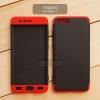 เคส Xiaomi Mi Note 3 เคสแข็ง 3 ส่วน ครอบคลุม 360 องศา (สีดำ - แดง)