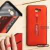เคส Samsung J7 Prime เคส Hybrid เกรดพรีเมี่ยม 2 ชั้น ขอบยางลดแรงกระแทก พร้อม (ขาตั้ง + สายคล้องนิ้ว) สีแดง