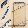 เคส Huawei P9 เคสนิ่ม SLIM TPU สีใส ขอบเงา ( สีน้ำเงิน )