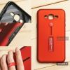 เคส Samsung Galaxy J7 เคส Hybrid เกรดพรีเมี่ยม 2 ชั้น ขอบยางลดแรงกระแทก พร้อม (ขาตั้ง + สายคล้องนิ้ว) สีแดง