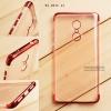 เคส Xiaomi Redmi Note 4X เคสนิ่ม SLIM TPU สีใส ขอบเงา ( สีแดง )