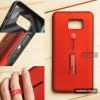 เคส Samsung Galaxy Note 5 เคส Hybrid เกรดพรีเมี่ยม 2 ชั้น ขอบยางลดแรงกระแทก พร้อม (ขาตั้ง + สายคล้องนิ้ว) สีแดง
