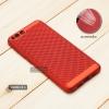 เคส Xiaomi Mi 6 เคสแข็งสีเรียบ (รูระบายอากาศที่เคส) สีแดง