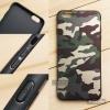 เคส iPhone 6 Plus เคสนิ่ม TPU ลายทหาร (ขอบดำ) สีเขียว