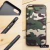 (เฉพาะ iPhone 8 เท่านั้น) เคส iPhone 8 เคสนิ่ม TPU ลายทหาร (ขอบดำ) สีเขียว