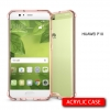 เคส Huawei P10 เคส Hybrid ฝาหลังอะคริลิคใส ขอบยางกันกระแทก สี Old rose