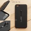 เคส OPPO R9s PRO เคส Hybrid เกรดพรีเมี่ยม 2 ชั้น ขอบยางลดแรงกระแทก พร้อม (ขาตั้ง + สายคล้องนิ้ว) สีดำ