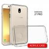 เคส Samsung Galaxy J7 Pro เคส Hybrid ฝาหลังอะคริลิคใส ขอบยางกันกระแทก สีใส