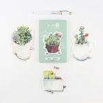 โปสการ์ดไดคัท - ลาย love succulent